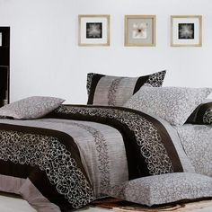 Charming Garret 100% Cotton 3PC Comforter Cover/Duvet Cover Combo Twin Size