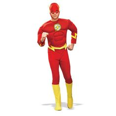 Speedy!! Deluxe Muscle Chest Flash Adult Costume #officialsuperherocostumes