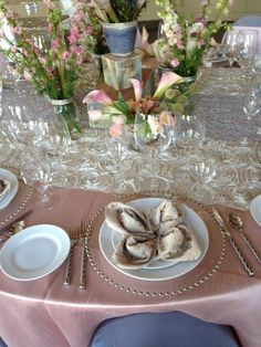 Blush Dupioni - brides are loving this color in 2012!  Styled by DiVine Events in Las Vegas