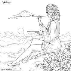 einai  poli  oreo People Coloring Pages, Detailed Coloring Pages, Cute Coloring Pages, Adult Coloring Pages, Dark Art Drawings, Outline Drawings, Disney Princess Coloring Pages, Coloring Book Art, Drawing People