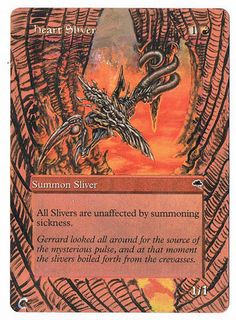MTG Altered Painted Heart Sliver Tempest FREE SHIPPING