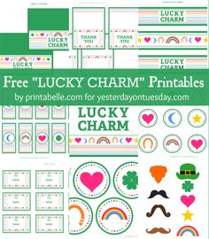 Free Mega Set St. Patrick's Day Printable Set from Yesterday on Tuesday, featured @printabledecor1