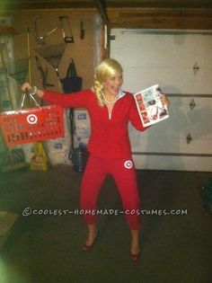 Funny Halloween Costume Idea for a Woman: Target Black Friday Lady… Enter the Coolest Halloween Costume Contest at http://ideas.coolest-homemade-costumes.com/submit/