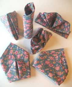 Montessori Practical Life - Napkin Folding via Etsy