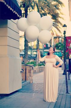  WEARING Rachel PallyIsa Dress, Bangles & Earrings from India ABOVE  Posing with my giant balloons   Mason jar centerpieces, filled with fresh pom po