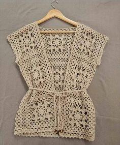 Fabulous Crochet a Little Black Crochet Dress Ideas. Georgeous Crochet a Little Black Crochet Dress Ideas. Pull Crochet, Gilet Crochet, Crochet Vest Pattern, Crochet Shirt, Crochet Jacket, Crochet Cardigan, Knit Crochet, Crochet Patterns, Crochet Stitch