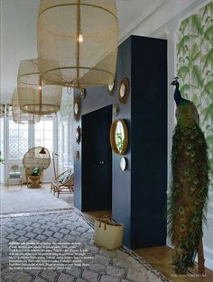 Palm Jungle vert de Cole and Son dans le magazine Elle decoration octobre 2015