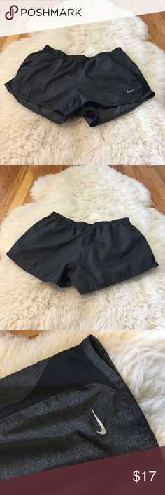BLACK AND GREY NIKE ATHLETIC SHORTS | worn several times | great condition | fit a medium | tie inner waistband | perfect for working out or running | make me an offer | no lowballing | Nike Shorts