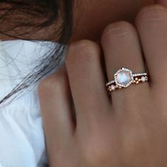 gold and diamond moonstone hex ring 2019 simple dainty and beautiful! The post gold and diamond moonstone hex ring 2019 appeared first on Jewelry Diy. 14 Carat, Body Chains, Ring Verlobung, Diamond Are A Girls Best Friend, Beautiful Rings, Pretty Rings, Beautiful Beautiful, Beautiful Ladies, Absolutely Stunning