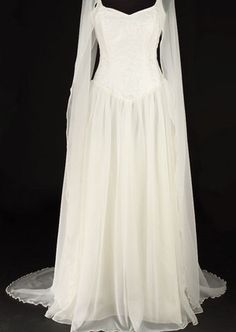 439IV - Ivory Avalon Dress - Gothic, romantic, steampunk clothing from The Dark Angel