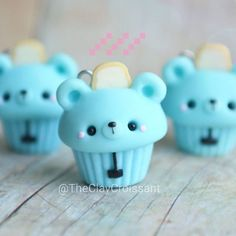 Toaster Bear Cupcakes! #polymerclay