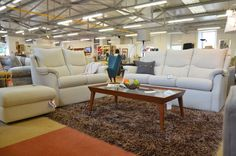 Living : STOW 3 + 2 Seater Sofas + Storage Footstool
