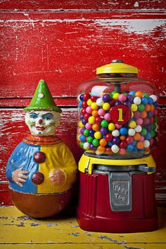 Clown Toy and Gumball machine by Garry Gay.