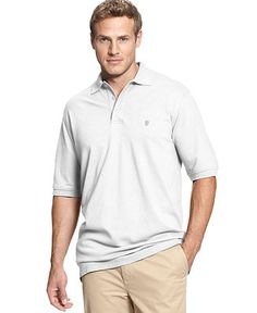 Izod Big and Tall Shirt, Short Sleeve Pique Polo - Sale & Clearance - Men - Macy's