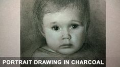 Speed Drawing Video Charcoal Portrait of Child by Karen Whitworth. Tags: art, portrait, portraiture, draw, face, people, sketch, tutorial, artist, how-to