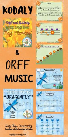 Music Class Orff Songs original and traditional selections. https://www.teacherspayteachers.com/Store/Sing-play-creatively