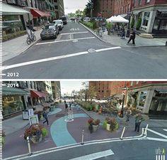 Galeria de Antes/Depois: 30 fotos que mostram que é possível projetar para os pedestres - 9