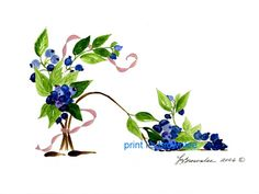 Blueberry Lover's Shoe    L.S. Brownlee Art Studio