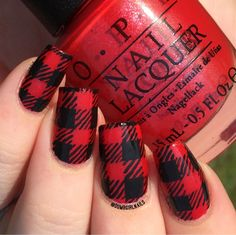 Plaid Nails nails nail nail art nail ideas fall nails plaid nails autunm nails - New Pin Plaid Nail Designs, Plaid Nail Art, Plaid Nails, Fall Nail Art Designs, Acrylic Nail Designs, Nail Art Rouge, Hair And Nails, My Nails, Checkered Nails
