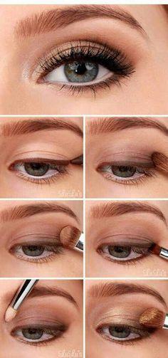 Golden Smokey Eye Make-up Tutorial! :-) Golden Smokey Eye Make-up Tutorial! Makeup Tricks, Eye Makeup Tips, Makeup Products, Beauty Makeup, Makeup Ideas, Beauty Tips, Makeup Eyeshadow, Beauty Hacks, Makeup Inspo