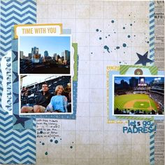 My versions of Blue Skies :) | Scraptastic Club by DT @An ounce of creativity