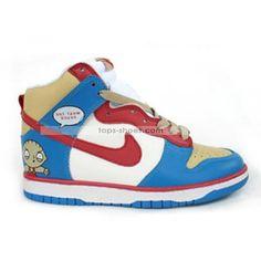cartoon High Tops | Cartoon nike dunks high tops What The Deuce shoes