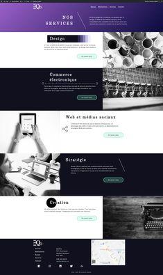 Page Services du projet Eliqo  Intégration: Léa Bureau