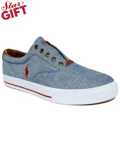 Polo Ralph Lauren Vito Laceless Chambray Sneakers