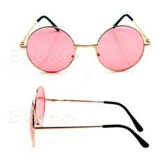 Nova-Retro-Feminino-Masculino-Frame-Plastico-Colorido-Lente-oculos-De-Sol-oculos-oculos-Redondos
