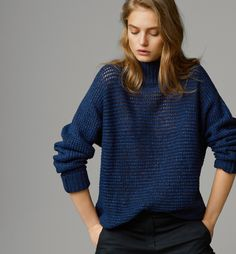 HIGH NECK SWEATER By Massimo Dutti