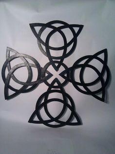Celtic Knot Cross Wall Art by MilwaukeeBlacksmith on Etsy, $2000.00