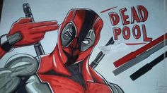 #deadpool Drawing :) Easy to make with markers