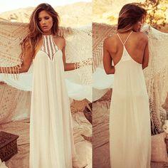 Women Summer Boho Long Maxi Evening Party Dress Beach Dresses Sundress #Unbranded #Maxi #Casual