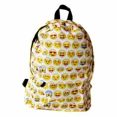 543906a27 Yellow emoji 3D Printing laptop backpack school bags for teenagers mochila  masculina fashion bookbag backpacks rugzak sac a dos