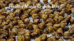 Incredibly simple, dirt cheap crunchy bits caramelized with a touch of brown sugar and maple syrup- high in protein & fiber too Protein Snacks, High Protein, Healthy Snacks, Healthy Eating, Healthy Recipes, Healthy Sweets, Yummy Recipes, Diet Recipes, Vegetarian Recipes