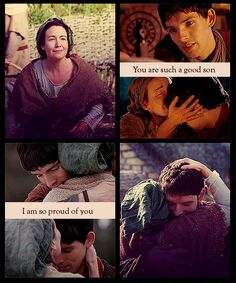 Merlin & Hunith(Mother) I love their relationship and I wish we saw more of her.