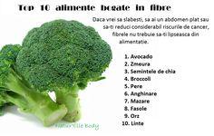 TOP 10 alimente bogate in fibre Broccoli, Cancer, Fiber, Medical, Vegetables, Food, Low Fiber Foods, Medicine, Essen