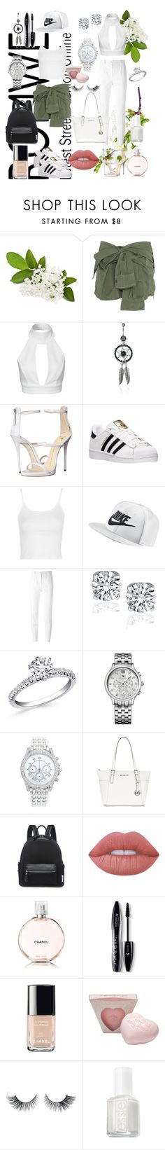 """""""Two sides of white"""" by rowan-na-daw ❤ liked on Polyvore featuring Faith Connexion, AQ/AQ, Giuseppe Zanotti, adidas, Topshop, NIKE, Dolce&Gabbana, Tommy Hilfiger, Lane Bryant and MICHAEL Michael Kors"""
