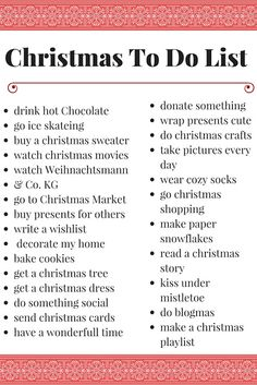 Christmas Bucket List #christmas #to do list #bucket list