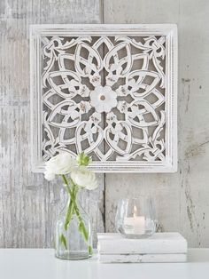 Handcarving on Wood Antique White Wall Art Decorative Sculpture Hanging Decor Wooden Wall Panels, Decorative Wall Panels, Wood Panel Walls, Wooden Walls, Carved Wood Wall Art, Hand Carved, Wall Panel Design, Fixer Upper, Home Decor Sale