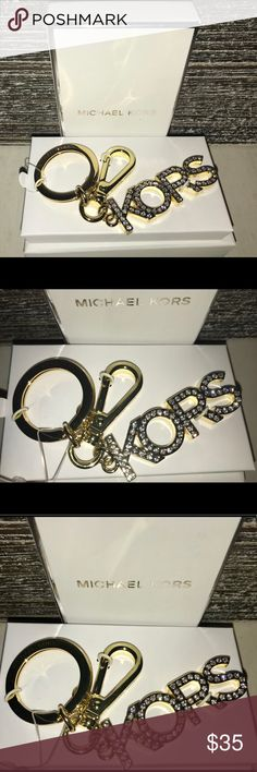 NWT !!!!  MICHAEL KORS KEYCHAIN OR BAG CHARM ! NWT !! MK Keychain!!!  Can also be used as a bag charm buy the huge lobster clasp !!! Key ring fully removable to be used as charm !!! Michael Kors Accessories Key & Card Holders
