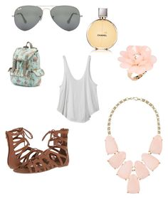 """Untitled #27"" by hailey70707 ❤ liked on Polyvore featuring Chanel, RVCA, Candie's, Ray-Ban, Dettagli, Kendra Scott and O'Neill"