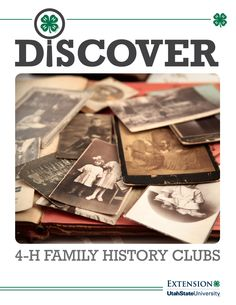 Start a club easy with the Discover curriculum! 4 H Club, Family History, Genealogy, Alaska, Utah, Playing Cards, Board, Projects, Kids