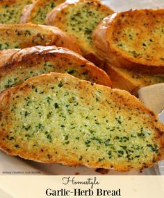 Homestyle Garlic Herb Bread - This homestyle garlic herb bread is the ...