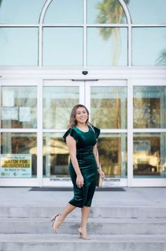 green velvet dress #velvetdress #greendress #runwayteacher #MyShopStyle #LooksChallenge #ShopStyle