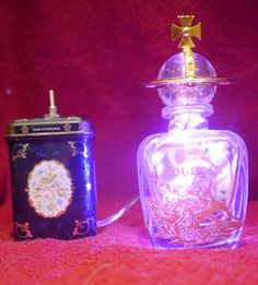 Vivienne Westwood Boudoir Perfume Recycled Bottle Lamp Battery Powered Pink LED Nightlight by RecycledDesignLondon on Etsy