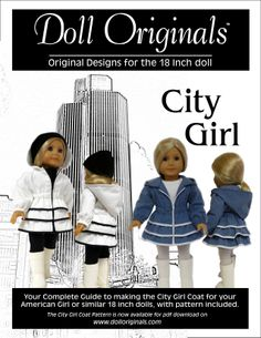 The Blue Coat is also illustrated in the City Girl Coat Pattern now available for pdf download on dolloriginals.com.