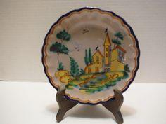 Beautiful MACS/M.A.C.S/ICS Vietri Italian Ceramic Pottery Plate-Fish Mark    35.00