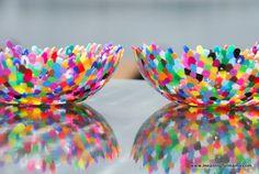 Día # 202 Plástico Perler Bead Bowls - Meaningfulmama.com