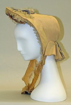 Bonnet (Poke Bonnet)  Date: ca. 1860 Culture: American Medium: silk Dimensions: Length: 8 in. (20.3 cm) Credit Line: Bequest of Maria P. James, 1910 Accession Number: 11.60.239